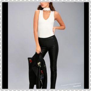 "Lulu's ""Powerhouse"" White Bodysuit"